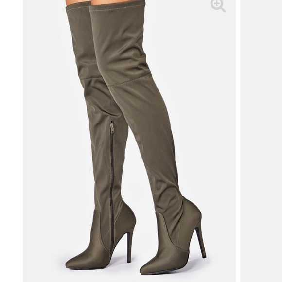 28cc24aa8fde Olive green over the knee boots. NWT. M_5c0d4d667386bc2620261b22.  M_5c0d4d67f63eea901a534e88. M_5c0d4d69819e9027067ddd92.  M_5c0d4d6a8ad2f982d541647b